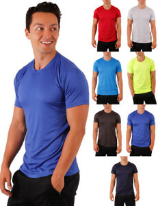 Dri Fit Coolmax Short Sleeve Workout Sports Fitness Activewear Solid Top Gym Top