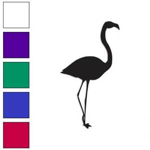 Flamingo Decal Sticker Choose Color + Size #313