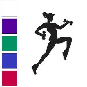 Exercise Jogger Runner Decal Sticker Choose Color Size #117