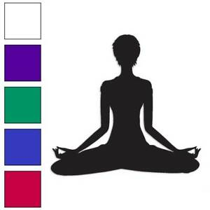 Yoga Meditation Decal Sticker Choose Color Size #763