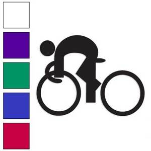 Bicycle Rider Exercise Decal Sticker Choose Color Size #1294