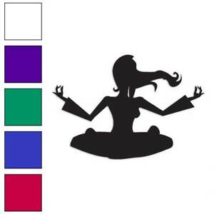 Yoga Meditation Decal Sticker Choose Color Size #1151