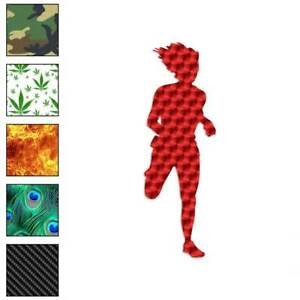 Jogger Running Exercise Decal Sticker Choose Pattern Size #909