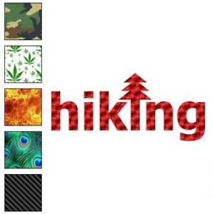 Hiking Tree Exercise Decal Sticker Choose Pattern Size #3977