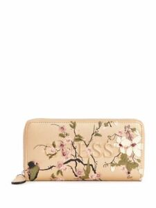 GUESS Factory Women's Rigden Floral Zip-Around Wallet