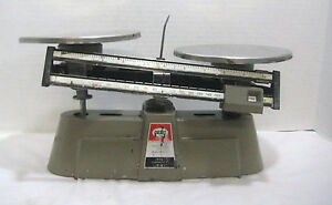 Vintage Ohaus Harvard Triple Balance Scale 2kg - 5lb No. 1310 Weight Measure