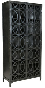 Industrial Design Circles Bakers Rack Wrought Iron Cabinet Bookcase36'' x 78''