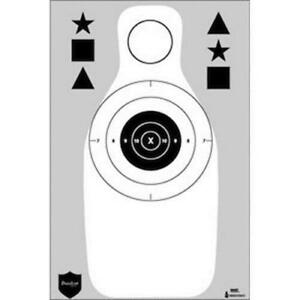 Dunbar Armored Qualification Target  Pack of 100