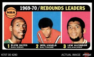 1970 Topps #5 Lew Alcindor  Wes Unseld  Rockets  Bullets (Wizards)  Bucks EX