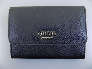 GUESS $  Black Mini Wallet Womens Wallet 4 Credit Card Slots B06