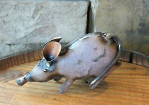 Small Recycled Repurposed Metal Mouse 3quot; Tall scrap art industrial $12.95