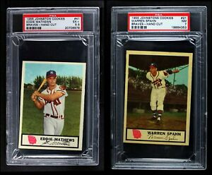 1955 Johnston Cookies Baseball Cards Almost Complete Set EXMT