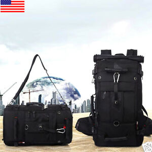 KAKA Backpack for 17-Inch Laptops - Black Outdoor Camping Hiking Sports Bag Gift