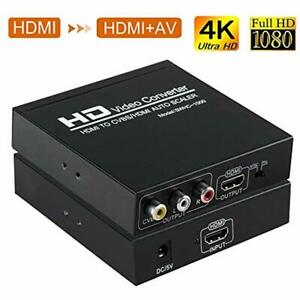 HDMI To RCA And Adapter Converter HDMI+3RCA CVBS AV Composite Video Audio With