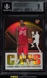 2003 Topps Pristine Gold Refractor LeBron James ROOKIE JSY # 2399 BGS 9 (PWCC)