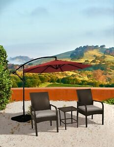 Patio bistro set Sonoma 3PC Brown Wicker all-weather Resin Rattan Conversation