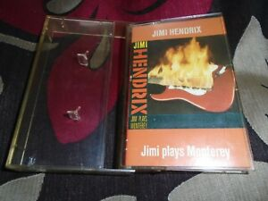 JIMI HENDRIX   PLAYS MONTEREY  MUSIC CASSETTE TAPE 1986  PLAY TESTED  USED