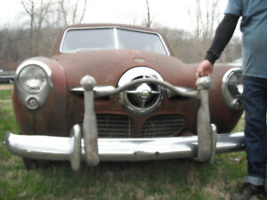 Front Bumper Crash Guard 1949 50 Ford Studebaker Hot Rat Rod Bullet Nose Shoebox