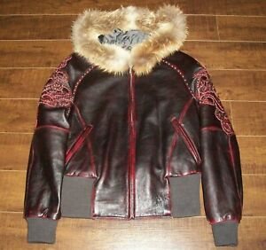 NEW Pelle Pelle Marc Buchanan Womens Size 10 Med Lrg Leather Jacket Coat Ladies