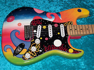 Universe Maple neck Fender Stratocaster Guitar Strat MIM Mexican Mexico pnt USA