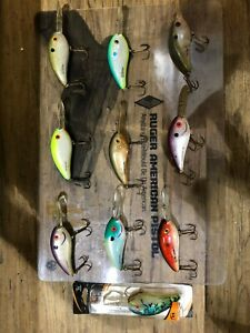 fishing lures fat free shad assorted colors Excalibur good condition