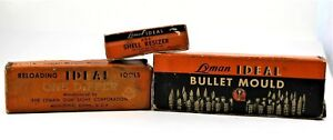 Lyman Ideal LOT Bullet Mould Dipper Die and Bullet Mould Handles - Vintage
