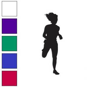 Jogger Running Exercise Decal Sticker Choose Color Large Size #lg909