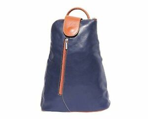 Sling Backpack Italian Leather Teardrop Chest Shoulder Bag Purse Small