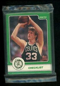 1984 Star Larry Bird 18 Card Set Unopened Sealed Original Bag