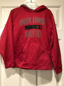 Boys Red Under Armour Sweatshirt Size Youth Medium For Sale!!!