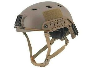 Lancer Tactical Specops Military Style NVG Helmet With Rails Tan New For Airsoft