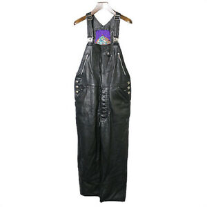 CHROME HEARTS Custom Leather Overall  Black
