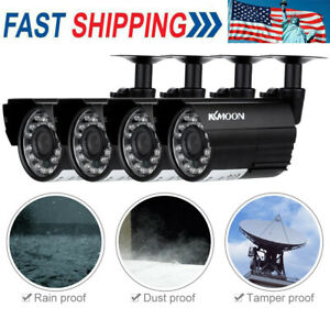 4PCS Wired 720P NVR Outdoor Indoor IR CUT Camera Home CCTV Security System Kit