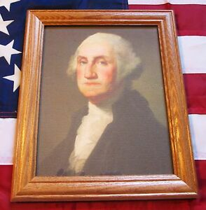 Framed Painting Portrait of George Washington on Canvas Rembrandt Peale $34.99