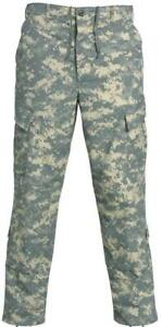 ACU Pants Trousers Digital Camo U.S ARMY Military Preowned Med Short Grade A