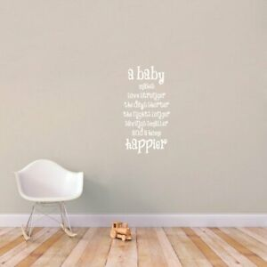 A Baby Makes A Home Happier Wall Decals