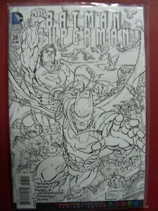 BATMAN SUPERMAN #28 ADULT COLORING BOOK VARIANT COVER 9.4 Or Better $12.99