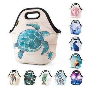 Neoprene Insulated Lunch Bag for Girls Kids Waterproof Large Food Lunch Box Tote
