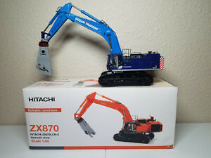 Hitachi ZX870 Zaxis Ocean Traders Excavator Shear WSI 1:50 Model #02-1329 New!