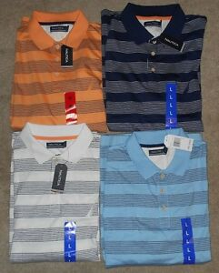 Nautica Striped Short Sleeve Polo Shirts Asst Colors amp; Sizes NWT $16.19