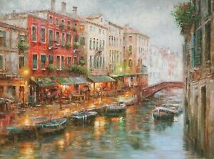 [Venice Afternoon] Oil Painting on Canvas by [Daniel Young] Size 30x40