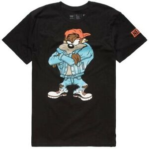 Neff Looney Tunes Taz Double Sided Black Men's T Shirt New