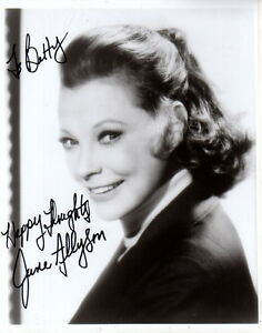 June Allyson Autographed signed 8x10 Photo F21485