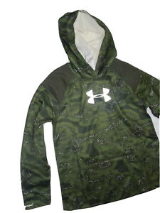 Under Armour girl's storm camo Hoodie Sweatshirt YLG youth Large 14 16 $42.70