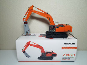 Hitachi ZX870 Zaxis LCH-3 Excavator with Shear by WSI 1:50 Model #04-1035 New!