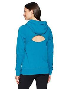Under Armour Women's French Terry Open Back Hoodie Sweatshirt  2XL  XXL Blue
