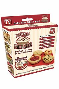 As Seen on TV My Lil' Pie Maker Baking Set for Mini Pies     Fast Free Shipping