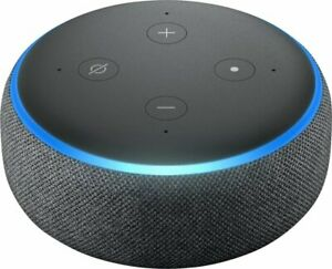 AMAZON ECHO DOT 3RD GENERATION SMART SPEAKER w ALEXA CHARCOAL B0792KTHKJ NIB