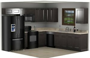 NEW! Rustic Grey Stained Barnwood Shaker Cabinets10x10 or custom layout
