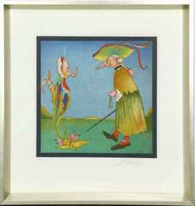 Mihail Chemiakin quot;CARNIVAL AT ST. PETERSBURGquot; Lithograph on Paper $1500.00